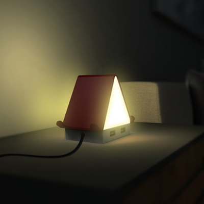 BRELONG Tiny House LED Night Light with 4 USB Outlets