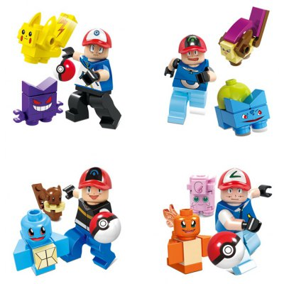 Action Figure Shape Building Block Educational Decor Toy