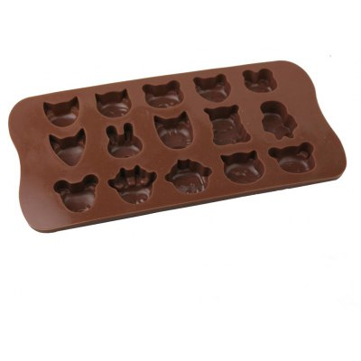 Animals Style Chocolate Pudding Ice Cube Tray