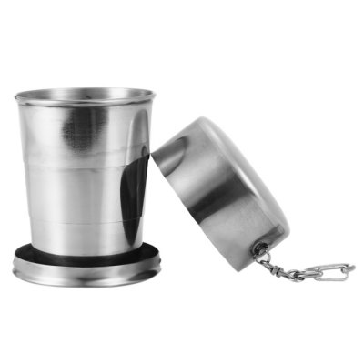 Portable 140mL Stainless Steel Foldable Cup