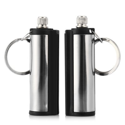 2pcs Portable Stainless Steel Fire Starter for Camping Survival