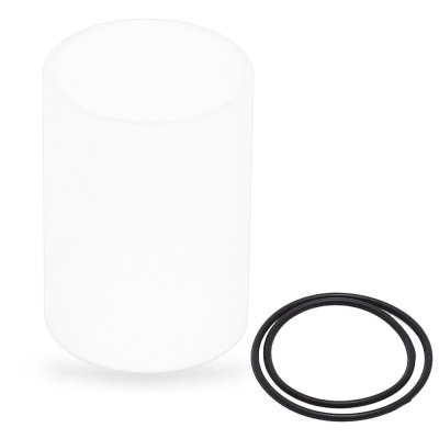 Replacement Frosted Glass Tank with 2 Insulated Ring for Taifun GT II Air Atomizer