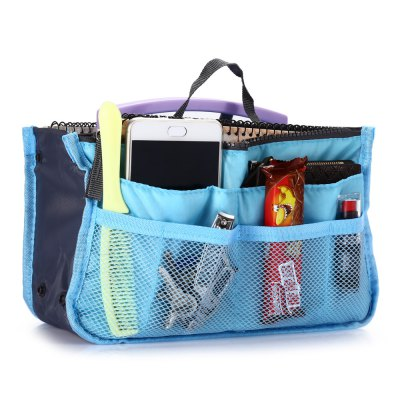 Multifunctional Double-zipper Storage Bag OrganizerStorage Bags<br>Multifunctional Double-zipper Storage Bag Organizer<br><br>Best Use: Home use,Traveling<br>Features: Durable, Foldable<br>Package Contents: 1 x Storage Bag<br>Package Dimension: 31.00 x 19.00 x 9.00 cm / 12.2 x 7.48 x 3.54 inches<br>Package weight: 0.140 kg<br>Product Dimension: 30.00 x 18.50 x 8.50 cm / 11.81 x 7.28 x 3.35 inches<br>Product weight: 0.100 kg
