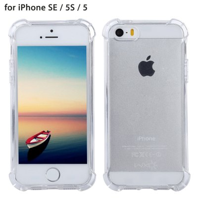 WXD Transparent TPU Case Screen Film for iPhone SE / 5S / 5