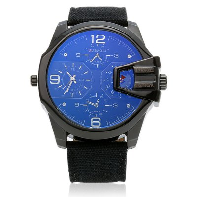 JUBAOLI A1136 Fashion Men Quartz WatchMens Watches<br>JUBAOLI A1136 Fashion Men Quartz Watch<br><br>Available Color: Army green,Black,Brown,Deep Blue,Red<br>Band material: Canvas<br>Band size: 26.8 x 2.6 cm / 10.55 x 1.02 inches<br>Brand: Jubaoli<br>Case material: Alloy<br>Clasp type: Pin buckle<br>Dial size: 5.3 x 5.3 x 1.5 / 2.09 x 2.09 x 0.59 inches<br>Display type: Analog<br>Movement type: Quartz watch<br>Package Contents: 1 x JUBAOLI A1136 Fashion Men Quartz Watch<br>Package size (L x W x H): 27.80 x 6.30 x 2.50 cm / 10.94 x 2.48 x 0.98 inches<br>Package weight: 0.122 kg<br>Product size (L x W x H): 26.80 x 5.30 x 1.50 cm / 10.55 x 2.09 x 0.59 inches<br>Product weight: 0.088 kg<br>Shape of the dial: Round<br>Watch style: Fashion<br>Watches categories: Male table<br>Water resistance : Life water resistant<br>Wearable length: 19.3 - 24.2 cm / 7.6 - 9.53 inches