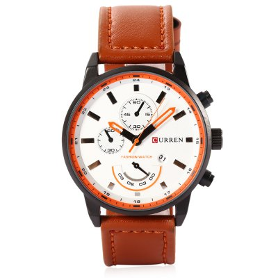 CURREN 8217 Casual Men Quartz WatchMens Watches<br>CURREN 8217 Casual Men Quartz Watch<br><br>Available Color: Black,Gray,White<br>Band material: Leather<br>Band size: 25.8 x 2.2<br>Brand: Curren<br>Case material: Stainless Steel<br>Clasp type: Pin buckle<br>Dial size: 4.5 x 4.5 x 1.2 cm<br>Display type: Analog<br>Movement type: Quartz watch<br>Package Contents: 1 x CURREN 8217 Casual Men Quartz Watch,  1 x Box<br>Package size (L x W x H): 8.80 x 8.00 x 5.30 cm / 3.46 x 3.15 x 2.09 inches<br>Package weight: 0.116 kg<br>Product size (L x W x H): 26.00 x 4.50 x 1.20 cm / 10.24 x 1.77 x 0.47 inches<br>Product weight: 0.057 kg<br>Shape of the dial: Round<br>Special features: Date<br>Watch style: Casual<br>Watches categories: Male table<br>Water resistance : Life water resistant<br>Wearable length: 17.8 - 23.3 cm