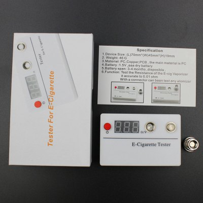 Digital Resistance Tester Ohmmeter for E - cigarette Atomizers
