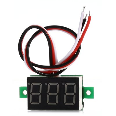 V20D DC 0 - 100V Yellow Digital LED DC Voltmeter Module