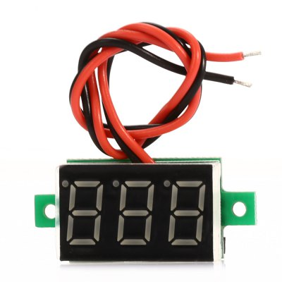DC 2.7 - 30V V20D 3-digit LED Digital Voltmeter