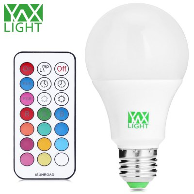 YWXLight RGBW 10W E27 12 x SMD 600 - 800Lm LED Bulb with Remote Controller