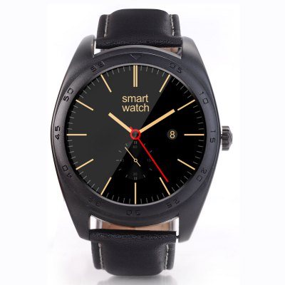 CACGO K89 Bluetooth 4.0 Heart Rate Monitor Smart WatchSmart Watches<br>CACGO K89 Bluetooth 4.0 Heart Rate Monitor Smart Watch<br><br>Built-in chip type: MTK2502<br>Bluetooth Version: Bluetooth 4.0<br>RAM: 128MB<br>ROM: 64MB<br>Bluetooth calling: Answering,Call log sync,Phone call reminder,Phonebook<br>Messaging: Message reminder<br>Health tracker: Heart rate monitor,Pedometer,Sedentary reminder,Sleep monitor<br>Remote control function: Remote Camera,Remote music<br>Notification: Yes<br>Notification type: Facebook,Twitter,WhatsApp<br>Find phone: Yes<br>Groups of alarm: 5<br>Alert type: Ring,Vibration<br>Locking screen : 5<br>Other Function: Alarm,Calculator,Calender,Voice recorder<br>Screen: IPS<br>Screen resolution: 240 x 240<br>Screen size: 1.2 inch<br>Operating mode: Press button,Touch Screen<br>Type of battery: Polymer Battery<br>Battery Capacty: 300mAh<br>Charging Time: About 2hours<br>Standby time: About 4 - 5 Days<br>People: Female table,Male table<br>Shape of the dial: Round<br>Case material: Stainless Steel<br>Band material: Leather<br>Compatible OS: Android,IOS<br>Compatability: Android 4.3 / iOS 7.0 and Above Systems<br>Language: Dutch,English,French,German,Italian,Polish,Portuguese,Russian,Spanish,Turkish<br>Available Color: Black,Gold,Silver<br>Dial size: 4.3 x 4.3 x 1.3 cm / 1.69 x 1.69 x 0.51 inches<br>Band size: 24 x 2.2 cm / 9.45 x 0.87 inches<br>Product size (L x W x H): 24.00 x 4.30 x 1.30 cm / 9.45 x 1.69 x 0.51 inches<br>Package size (L x W x H): 19.30 x 6.50 x 5.00 cm / 7.6 x 2.56 x 1.97 inches<br>Product weight: 0.078 kg<br>Package weight: 0.230 kg<br>Package Contents: 1 x CACGO K89 Smart Watch, 1 x Charging Cable, 1 x English User Manual