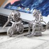 cheap 2pcs Creative Skull Shape Key Chain for Decoration Amusement