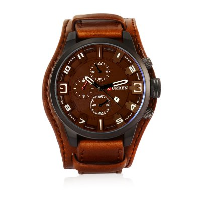 CURREN 8225 Casual Men Quartz WatchMens Watches<br>CURREN 8225 Casual Men Quartz Watch<br><br>Band material: Leather<br>Band size: 27 x 2.2 cm / 10.63 x 0.87 inches<br>Brand: Curren<br>Case material: Stainless Steel<br>Clasp type: Pin buckle<br>Dial size: 5.5 x 5.5 x 1.6 cm / 2.17 x 2.17 x 0.63 inches<br>Display type: Analog<br>Movement type: Quartz watch<br>Package Contents: 1 x CURREN 8225 Casual Men Quartz Watch, 1 x Box<br>Package size (L x W x H): 8.80 x 8.00 x 5.30 cm / 3.46 x 3.15 x 2.09 inches<br>Package weight: 0.142 kg<br>Product size (L x W x H): 27.00 x 5.50 x 1.60 cm / 10.63 x 2.17 x 0.63 inches<br>Product weight: 0.082 kg<br>Shape of the dial: Round<br>Special features: Date<br>Watch color: Red, Orange, Yellow, Brown, Black<br>Watch style: Fashion<br>Watches categories: Male table<br>Water resistance : Life water resistant<br>Wearable length: 19.5 - 24.2 cm / 7.68 - 9.53 inches