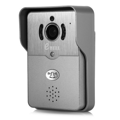 eBELL ATZ - DBV01P Smart WiFi IP DoorbellAccess Control<br>eBELL ATZ - DBV01P Smart WiFi IP Doorbell<br><br>Audio Compression Mode: G.711<br>Audio Input: Built-in mic.<br>Audio Output: Built-in speaker<br>Color: Silver<br>Infrared Distance: 5m<br>Infrared LED: 6pcs LEDs<br>IP camera performance: Night Vision, Motion Detection<br>Local-storage: Micro SD card up to 64GB<br>Mobile Access: Android,IOS<br>Model: ATZ-DVB01P<br>Online Visitor (Max.): 5 visitors<br>Package Contents: 1 x Doorbell, 1 x Power Adapter ( 100 - 240V 0.6A Input ), 1 x English User Manual, 1 x Rain Cover, 2 x Cable, 5 x Screw, 4 x Screw Cap<br>Package size (L x W x H): 18.50 x 16.50 x 7.50 cm / 7.28 x 6.5 x 2.95 inches<br>Package weight: 0.690 kg<br>Pixels: 1MP<br>Product size (L x W x H): 14.50 x 9.50 x 4.50 cm / 5.71 x 3.74 x 1.77 inches<br>Product weight: 0.275 kg<br>Protocol: DHCP,IP,ONVIF,P2P,SMTP,TCP,UDP,UPNP<br>Resolution: 1280 x 720,320 x 240,640 x 480<br>Sensor: CMOS<br>Sensor size (inch): 1/4<br>Shape: Box Camera<br>Specification of Power Supply: DC 12V 1.5A<br>Technical Feature: Infrared, Waterproof<br>Video Compression Format: H.264<br>Wireless: WiFi 802.11 b/g/n