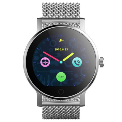 SMA - 09 Bluetooth 4.0 Heart Rate Monitor Smart WatchSmart Watches<br>SMA - 09 Bluetooth 4.0 Heart Rate Monitor Smart Watch<br><br>Brand: SMA<br>Built-in chip type: MTK2502<br>Bluetooth version: Bluetooth 4.0<br>RAM: 128MB<br>ROM: 64MB<br>Waterproof: Yes<br>IP rating: IP54<br>Bluetooth calling: Phone call reminder<br>Messaging: Message reminder<br>Health tracker: Heart rate monitor,Pedometer,Sedentary reminder,Sleep monitor<br>Remote control function: Remote Camera,Remote music<br>Notification: Yes<br>Notification type: Facebook,G-mail,Twitter,Wechat<br>Find phone: Yes<br>Groups of alarm: 5<br>Alert type: Ring,Vibration<br>Locking screen : 6<br>Other Function: Alarm,Calculator,Calender,Voice recorder,Weather forecast<br>Screen resolution: 240 x 240<br>Operating mode: Touch Screen<br>Type of battery: Polymer Battery<br>Battery Capacty: 300mAh<br>Charging Time: About 2hours<br>Standby time: About 2 - 3 Days<br>People: Female table,Male table<br>Shape of the dial: Round<br>Case material: Stainless Steel<br>Band material: Stainless Steel<br>Compatible OS: Android,IOS<br>Compatability: Android 4.4 / iOS 8.0 and Above Systems<br>Language: Dutch,English,French,German,Italian,Polish,Portuguese,Russian,Spanish,Turkish<br>Available color: Black,Brown,Silver<br>Dial size: 4.3 x 4.3 x 1.3 cm / 1.69 x 1.69 x 0.51 inches<br>Band size: 23.8 x 2.2 cm / 9.37 x 0.87 inches<br>Product size (L x W x H): 23.80 x 4.30 x 1.30 cm / 9.37 x 1.69 x 0.51 inches<br>Package size (L x W x H): 9.80 x 9.80 x 8.00 cm / 3.86 x 3.86 x 3.15 inches<br>Product weight: 0.074 kg<br>Package weight: 0.230 kg<br>Package Contents: 1 x SMA - 09 Smart Watch, 1 x Charging Cable, 1 x English User Manual