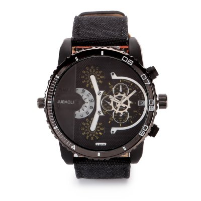 JUBAOLI 1141 Casual Male Quartz WatchMens Watches<br>JUBAOLI 1141 Casual Male Quartz Watch<br><br>Available Color: Black,Blue,Green,Red<br>Band material: Canvas<br>Band size: 26.6 x 2.5<br>Brand: Jubaoli<br>Case material: Alloy<br>Clasp type: Pin buckle<br>Dial size: 5 x 5 x 1.8 cm<br>Display type: Analog<br>Movement type: Quartz watch<br>Package Contents: 1 x JUBAOLI 1141 Casual Men Quartz Watch, 1 x Box<br>Package size (L x W x H): 8.80 x 8.00 x 5.30 cm / 3.46 x 3.15 x 2.09 inches<br>Package weight: 0.145 kg<br>Product size (L x W x H): 26.60 x 5.00 x 1.80 cm / 10.47 x 1.97 x 0.71 inches<br>Product weight: 0.086 kg<br>Shape of the dial: Round<br>Special features: Date<br>Watch style: Fashion<br>Watches categories: Male table<br>Water resistance : Life water resistant<br>Wearable length: 19.4 - 24.4 cm
