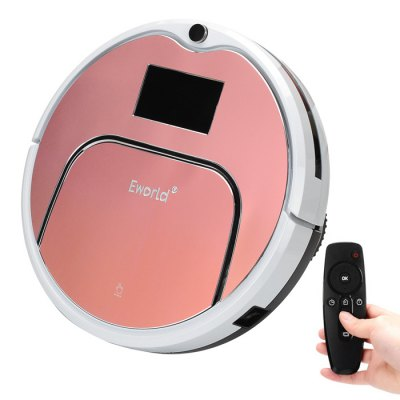 Eworld M883 Smart Robotic Vacuum Cleaner Cordless Sweeping Cleaning Machine Self-recharging Timing Function