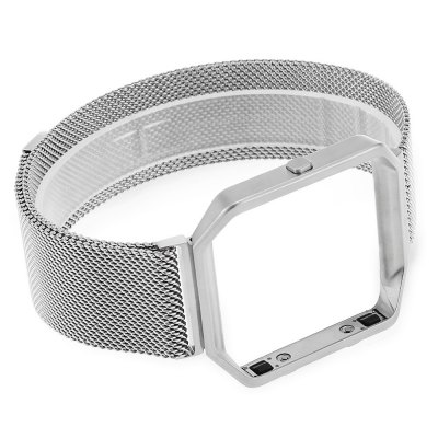 Milanese Strap with Silver Case for Fitbit Blaze Smart WatchWatch Accessories<br>Milanese Strap with Silver Case for Fitbit Blaze Smart Watch<br><br>Material: Stainless Steel<br>Package Contents: 1 x Watch Strap, 1 x Watch Case<br>Package size (L x W x H): 6.00 x 5.00 x 2.50 cm / 2.36 x 1.97 x 0.98 inches<br>Package weight: 0.070 kg<br>Product size (L x W x H): 23.00 x 4.00 x 1.00 cm / 9.06 x 1.57 x 0.39 inches<br>Product weight: 0.046 kg<br>Type: Smart watch / wristband band
