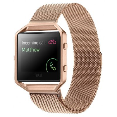 Milanese Strap with Silver Case for Fitbit Blaze Smart Watch