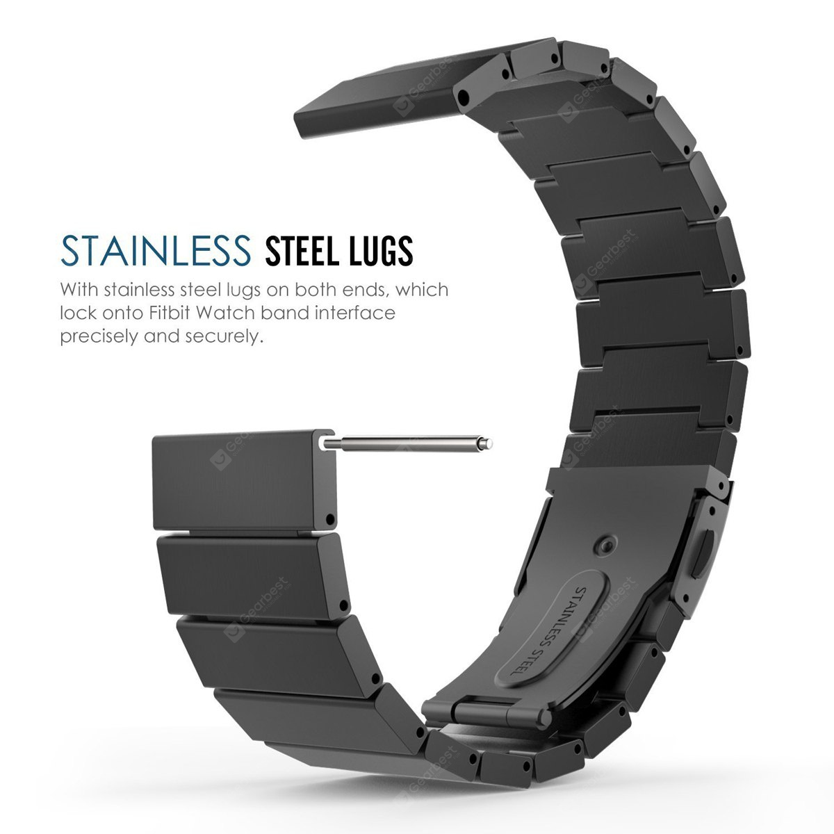 Bamboo Shaped Stainless Steel Strap + Case for Fitbit Blaze