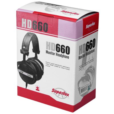 Superlux HD-660 Professional Monitor Headphones Closed Dynamic