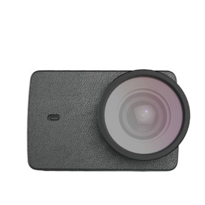 Original YI PU Leather Case with UV Lens for YI II