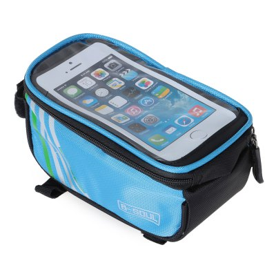 B - SOUL YA0207 Bike Front Tube BagBike Bags<br>B - SOUL YA0207 Bike Front Tube Bag<br><br>Brand: B-SOUL<br>Emplacement: Front Tube<br>For: Unisex<br>Material: PU, Polyester<br>Model Number: YA0207<br>Package Contents: 1 x B - SOUL YA0207 Bike Front Tube Bag<br>Package Dimension: 20.00 x 11.00 x 10.00 cm / 7.87 x 4.33 x 3.94 inches<br>Package weight: 0.176 kg<br>Product Dimension: 19.00 x 10.00 x 9.00 cm / 7.48 x 3.94 x 3.54 inches<br>Product weight: 0.135 kg<br>Suitable for: Mountain Bicycle, Fixed Gear Bicycle, Cross-Country Cycling, Touring Bicycle, Road Bike