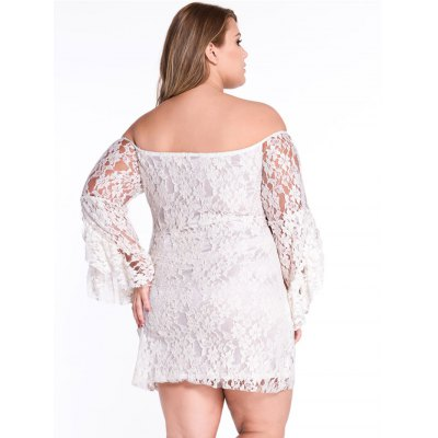 Flare Sleeve Off The Shoulder Lace DressBodycon Dresses<br>Flare Sleeve Off The Shoulder Lace Dress<br><br>Material: Polyester<br>Package Contents: 1 x Lace Dress<br>Package size: 30.00 x 24.00 x 3.00 cm / 11.81 x 9.45 x 1.18 inches<br>Package weight: 0.5980 kg<br>Product weight: 0.2300 kg<br>Size: L,M,S,XL,XXL
