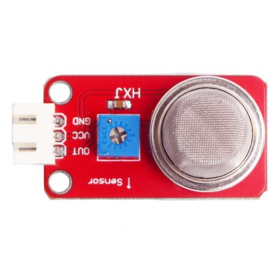 MQ-2 Smoke Gas Sensor ModuleSensors<br>MQ-2 Smoke Gas Sensor Module<br><br>Mainly Compatible with: Ardunio<br>Material: PCB<br>Output Voltage: 5V<br>Package Contents: 1 x MQ-2 Smoke Gas Sensor Module<br>Package Size(L x W x H): 6.00 x 4.00 x 3.00 cm / 2.36 x 1.57 x 1.18 inches<br>Package weight: 0.090 kg<br>Product Size(L x W x H): 4.50 x 2.00 x 1.60 cm / 1.77 x 0.79 x 0.63 inches<br>Product weight: 0.008 kg<br>Type: Sensor