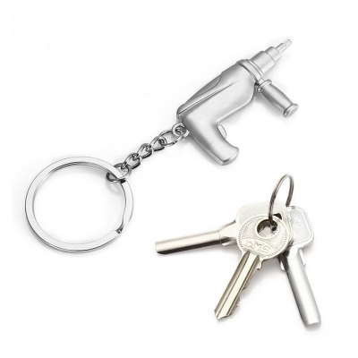 Creative Key Chain Ring Keyring with Electric Drill Shape