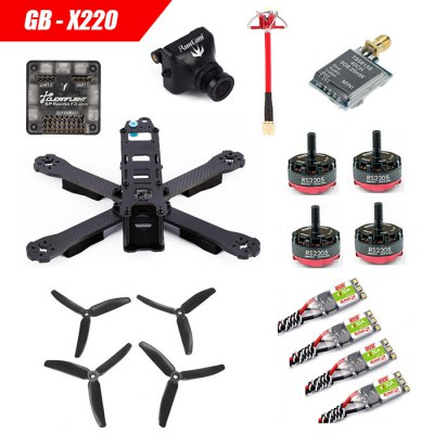 GB - X220 Carbon Fiber DIY Frame Kit RC Racing Drone