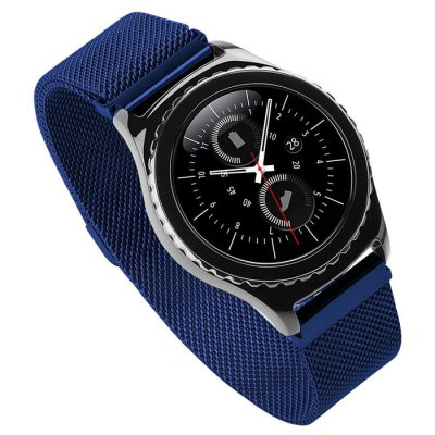 Classic Milanese Strap for Samsung S2 Smart WatchWatch Accessories<br>Classic Milanese Strap for Samsung S2 Smart Watch<br><br>Color: Black,Blue,Gold,Rose Gold,Silver<br>Material: Stainless Steel<br>Package Contents: 1 x Strap<br>Package size (L x W x H): 22.00 x 3.00 x 1.70 cm / 8.66 x 1.18 x 0.67 inches<br>Package weight: 0.112 kg<br>Product size (L x W x H): 19.00 x 2.00 x 1.00 cm / 7.48 x 0.79 x 0.39 inches<br>Product weight: 0.072 kg<br>Type: Smart watch / wristband band