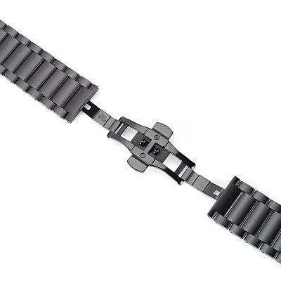 HOCO Three Bead Strap for Samsung S2 Smart WatchWatch Accessories<br>HOCO Three Bead Strap for Samsung S2 Smart Watch<br><br>Brand: HOCO<br>Color: Black<br>Material: Stainless Steel<br>Package Contents: 1 x HOCO Strap, 1 x Link Remover, 2 x Watch Link Pin<br>Package size (L x W x H): 12.70 x 12.70 x 3.30 cm / 5 x 5 x 1.3 inches<br>Package weight: 0.200 kg<br>Product size (L x W x H): 18.50 x 2.40 x 0.80 cm / 7.28 x 0.94 x 0.31 inches<br>Product weight: 0.120 kg<br>Type: Smart watch / wristband band