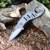 Outdoor No Lock Foldable Knife with Bottle Opener Function