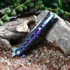 Colorful Carbon Steel Liner Lock Foldable Knife for sale