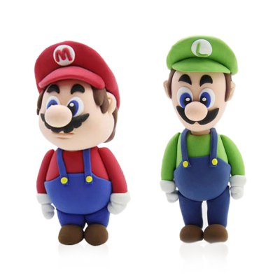 3D Colored Cartoon Character Modeling Clay