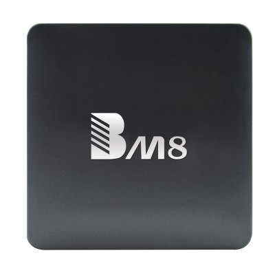 BM8 Set Top Box Android Amlogic S905X Quad CoreTV Box &amp; Mini PC<br>BM8 Set Top Box Android Amlogic S905X Quad Core<br><br>5G WiFi: Yes<br>Audio format: WAV, OGG, TrueHD, MP3, FLAC, DDP, WMA, AAC, APE, HD<br>Bluetooth: Bluetooth4.0<br>Color: Black<br>Core: 2.0GHz, Quad Core<br>CPU: Amlogic S905X<br>Decoder Format: Xvid/DivX3/4/5/6, RealVideo8/9/10, HD MPEG1/2/4, HD AVC/VC-1, H.265, H.264, RM/RMVB<br>GPU: Mali-450<br>Interface: USB2.0, AV, DC Power Port, HDMI, RJ45, TF card<br>Language: Multi-language<br>Model: BM8<br>Package Contents: 1 x BM8 TV Box, 1 x Remote Control, 1 x HDMI Cable, 1 x Power Adapter, 1 x English Manual<br>Package size (L x W x H): 14.00 x 13.20 x 8.00 cm / 5.51 x 5.2 x 3.15 inches<br>Package weight: 0.5950 kg<br>Photo Format: TIFF, BMP, GIF, JPEG, PNG<br>Power Supply: Charge Adapter<br>Power Type: External Power Adapter Mode<br>Product size (L x W x H): 9.80 x 9.80 x 2.60 cm / 3.86 x 3.86 x 1.02 inches<br>Product weight: 0.2000 kg<br>RAM: 2G<br>RAM Type: DDR3<br>ROM: 32G<br>System: Android 6.0<br>System Bit: 64Bit<br>Type: TV Box<br>Video format: 4K, VOB, 1080P, ASF, AVI, TS, RM, VP9 Profile-2, WMV, MPG, MPEG, MOV, MKV, H.265, ISO, H.264, FLV, DAT, AVS, RMVB<br>WIFI: 802.11 b/g/n/ac