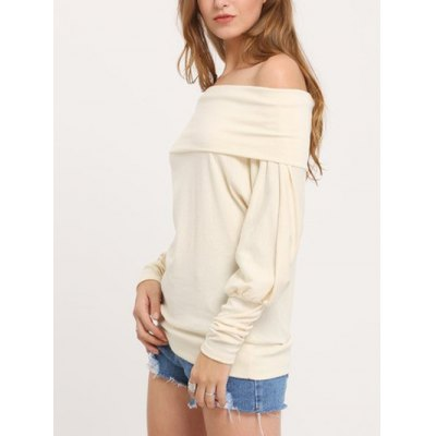 Off The Shoulder Knitted Shirt for Women