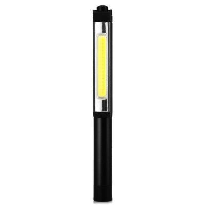 Soshine TC11 LED Work LightLED Flashlights<br>Soshine TC11 LED Work Light<br><br>Battery Quantity: 3 x AAA alkaline battery (included)<br>Battery Type: AAA<br>Body Material: Aluminium Alloy<br>Brand: Soshine<br>Emitters: COB<br>Emitters Quantity: 1<br>Feature: Pocket Clip, Lightweight<br>Function: Walking, Night Riding, Household Use, Hiking, EDC, Camping<br>Lumens Range: 1-200Lumens<br>Luminous Flux: 170LM<br>Mode: 1 (ON/OFF)<br>Package Contents: 1 x Soshine TC11 LED Flashlight, 3 x AAA Alkaline Battery<br>Package size (L x W x H): 21.50 x 8.00 x 4.00 cm / 8.46 x 3.15 x 1.57 inches<br>Package weight: 0.136 kg<br>Power Source: Battery<br>Product size (L x W x H): 16.00 x 3.00 x 3.00 cm / 6.3 x 1.18 x 1.18 inches<br>Product weight: 0.060 kg<br>Switch Location: Head