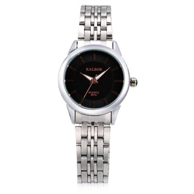 KALBOR 6010 Business Women Nailed Scale Quartz WatchWomens Watches<br>KALBOR 6010 Business Women Nailed Scale Quartz Watch<br><br>Band material: Stainless Steel<br>Band size: 20 x 1.5 cm / 7.87 x 0.59 inches<br>Case material: Stainless Steel<br>Clasp type: Folding clasp with safety<br>Dial size: 2.8 x 2.8 x 0.7 cm / 1.1 x 1.1 x 0.28 inches<br>Display type: Analog<br>Movement type: Quartz watch<br>Package Contents: 1 x KALBOR 6010 Business Lady Quartz Watch<br>Package size (L x W x H): 13.00 x 4.00 x 2.00 cm / 5.12 x 1.57 x 0.79 inches<br>Package weight: 0.090 kg<br>Product size (L x W x H): 20.00 x 2.80 x 0.70 cm / 7.87 x 1.1 x 0.28 inches<br>Product weight: 0.054 kg<br>Shape of the dial: Round<br>Watch color: White + Gold, White + Silver, Black + Gold, Black + Silver<br>Watch style: Business<br>Watches categories: Female table<br>Water resistance : Life water resistant