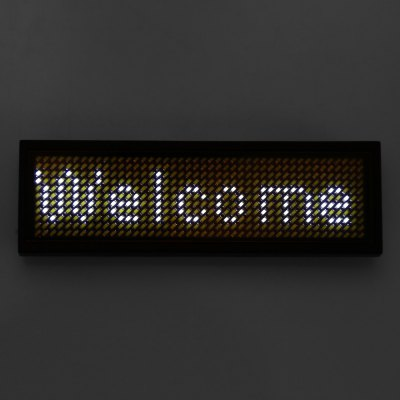 Programmable LED Digital Scrolling Message Name Tag ID Badge