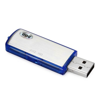 KELIMA KELIMA - C25 8GB USB Flash Drive / RecorderUSB Flash Drives<br>KELIMA KELIMA - C25 8GB USB Flash Drive / Recorder<br><br>Available Color: Black,Blue<br>Capacity: 8G<br>Compatible with: Windows<br>Flash Memory Type: TLC<br>Interface: USB 2.0<br>Max. Read Speed: 8.5M/s<br>Max. Write Speed: 2.5M/s<br>Package Contents: 1 x KELIMA KELIMA - C25 8GB USB Flash Drive / Recorder, 1 x English Manual<br>Package size (L x W x H): 10.00 x 4.00 x 2.00 cm / 3.94 x 1.57 x 0.79 inches<br>Package weight: 0.045 kg<br>Product size (L x W x H): 6.50 x 2.00 x 1.00 cm / 2.56 x 0.79 x 0.39 inches<br>Product weight: 0.012 kg<br>Recording bit rate: 192Kbps<br>Recording format: WAV<br>Style: Stylish<br>Type: USB Stick<br>U Flash Disk Format: FAT32