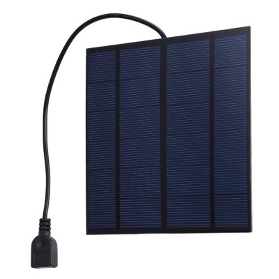 SUNWALK 3W 5V Monocrystalline Silicon Solar Charger PanelChargers &amp; Cables<br>SUNWALK 3W 5V Monocrystalline Silicon Solar Charger Panel<br><br>Color: Blue<br>Connection Type: One USB Output Interface<br>Material: PC, Silicon<br>Package Contents: 1 x Monocrystalline Silicon Solar Charger Panel<br>Package size (L x W x H): 26.50 x 18.50 x 2.00 cm / 10.43 x 7.28 x 0.79 inches<br>Package weight: 0.127 kg<br>Product size (L x W x H): 14.50 x 14.50 x 0.90 cm / 5.71 x 5.71 x 0.35 inches<br>Product weight: 0.089 kg<br>Type: Solar Chargers