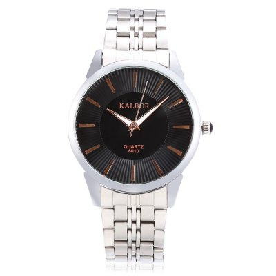 KALBOR 6010 Business Men Nailed Scale Quartz WatchMens Watches<br>KALBOR 6010 Business Men Nailed Scale Quartz Watch<br><br>Band material: Stainless Steel<br>Band size: 21 x 2 cm / 8.27 x 0.79 inches<br>Case material: Stainless Steel<br>Clasp type: Folding clasp with safety<br>Dial size: 4 x 4 x 0.8 cm / 1.57 x 1.57 x 0.31 inches<br>Display type: Analog<br>Movement type: Quartz watch<br>Package Contents: 1 x KALBOR 6010 Business Men Quartz Watch<br>Package size (L x W x H): 14.00 x 5.00 x 2.00 cm / 5.51 x 1.97 x 0.79 inches<br>Package weight: 0.116 kg<br>Product size (L x W x H): 21.00 x 4.00 x 0.80 cm / 8.27 x 1.57 x 0.31 inches<br>Product weight: 0.081 kg<br>Shape of the dial: Round<br>Watch color: White + Gold, White + Silver, Black + Gold, Black + Silver<br>Watch style: Business<br>Watches categories: Male table<br>Water resistance : Life water resistant