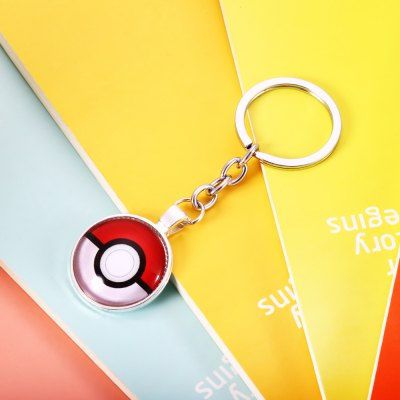 Convex Surface Ball Pattern Key Chain