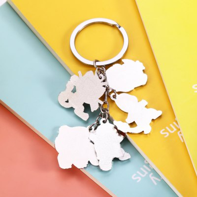 5-in-1 Cartoon Animal Character Key ChainKey Chains<br>5-in-1 Cartoon Animal Character Key Chain<br><br>Design Style: Other<br>Gender: Unisex<br>Materials: Zinc Alloy<br>Package Contents: 1 x Key Chain<br>Package size: 5.00 x 5.00 x 2.00 cm / 1.97 x 1.97 x 0.79 inches<br>Package weight: 0.0380 kg<br>Product weight: 0.0260 kg<br>Stem From: Japan<br>Theme: Animals,Movie and TV