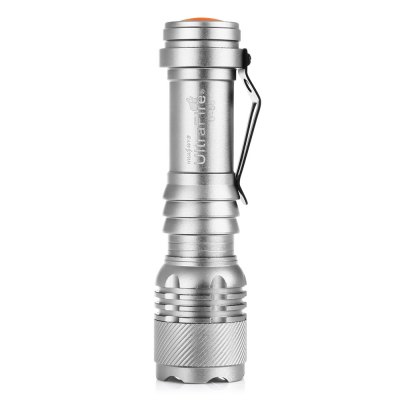 UltraFire U - 58 Zooming LED FlashlightLED Flashlights<br>UltraFire U - 58 Zooming LED Flashlight<br><br>Battery Included or Not: No<br>Battery Quantity: 1 (not included)<br>Battery Type: 14500<br>Beam Distance: 150-200m<br>Body Material: Aluminium Alloy<br>Brand: Ultrafire<br>Color: Silver<br>Color Temperature: 7000k-7500K<br>Emitters: Cree XP-E<br>Emitters Quantity: 1<br>Feature: Zoomable, Pocket Clip, Lotus Head, Lightweight, Cooling Slot of High Efficiency<br>Flashlight size: Small<br>Flashlight Type: Handheld<br>Function: Walking, Night Riding, Household Use, Camping, EDC, Hiking<br>Lens: Convex Lens<br>Light color: White light<br>Lumens Range: 200-500Lumens<br>Luminous Flux: 389LM<br>Mode: 3 (Low - High - Strobe)<br>Model: U-58<br>Package Contents: 1 x Ultrafire U-58 LED Flashlight<br>Package size (L x W x H): 10.00 x 3.30 x 3.30 cm / 3.94 x 1.3 x 1.3 inches<br>Package weight: 0.0630 kg<br>Power Source: Battery<br>Product size (L x W x H): 9.00 x 2.30 x 2.30 cm / 3.54 x 0.91 x 0.91 inches<br>Product weight: 0.0380 kg<br>Switch Location: Tail Cap<br>Working Voltage: 3.7V<br>Zooming Function: Yes