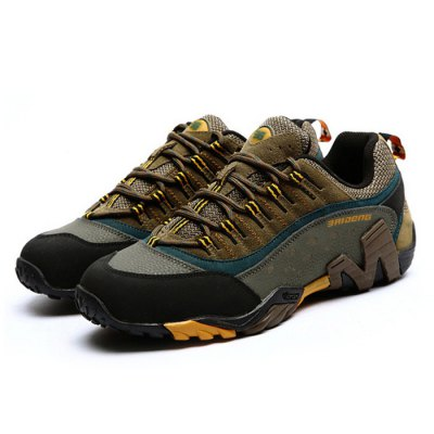 BAIDENG Men Hiking ShoesHiking Shoes<br>BAIDENG Men Hiking Shoes<br><br>Available Size: 42, 43 ,44, 45<br>Brand: BAIDENG<br>Closure Type: Lace-Up<br>Color: Brown,Gray,Khaki<br>Features: Breathable, Crashworthy, Durable, Shock-absorbing, Sweat-absorbing, Water Resistant, Anti-slip<br>Gender: Men<br>Highlights: Warm Keeping, Breathable, Sweat Absorbing<br>Package Contents: 1 x Pair of BAIDENG Shoes<br>Package size: 31.00 x 23.00 x 13.00 cm / 12.2 x 9.06 x 5.12 inches<br>Package weight: 1.130 kg<br>Product weight: 0.700 kg<br>Season: Autumn<br>Sole Material: Rubber<br>Type: Hiking Shoes