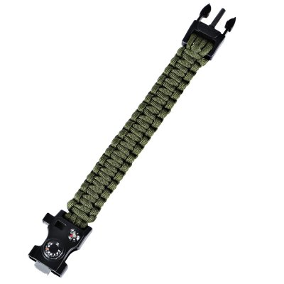 CTSmart 6 in 1 Survival BraceletSurvival Bracelet<br>CTSmart 6 in 1 Survival Bracelet<br><br>Best Use: Adventures,Camping,Climbing,Hiking<br>Brand: CTSmart<br>Color: Army green,Black,Jungle Camouflage<br>Extra Functions: Compass, Fire Starter, Whistle<br>Material: Parachute Cord<br>Package Contents: 1 x CTSmart 6 in 1 Survival Bracelet, 1 x Tool Card<br>Package Dimension: 26.00 x 4.00 x 3.00 cm / 10.24 x 1.57 x 1.18 inches<br>Package weight: 0.080 kg<br>Product Dimension: 25.50 x 3.50 x 2.00 cm / 10.04 x 1.38 x 0.79 inches<br>Product weight: 0.035 kg