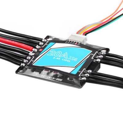 Electric Speed Controller 4 in 1 20A OPTO Brushless ESC